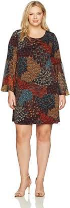 MSK Women's Plus Size Bell Sleeve Dress