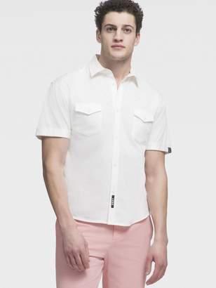 DKNY Short Sleeve Button Up