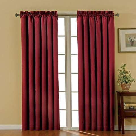 Thermaback Canova Blackout Curtain Panel - Burgundy (42