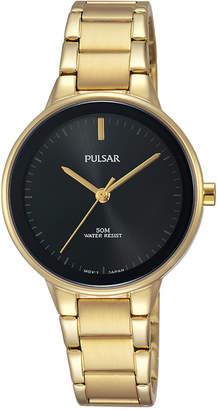 Pulsar Women's Easy Style Gold-Tone Stainless Steel Bracelet Watch 30mm PRS676