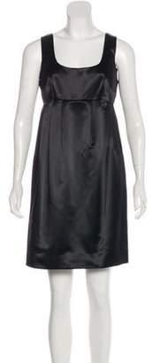 MICHAEL Michael Kors Satin Mini Dress Black Satin Mini Dress