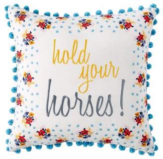 "The Pioneer Woman Hold Your Horses Decorative Throw Pillows, 18"" x 18"""