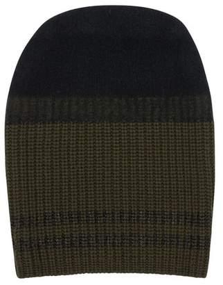 Amanda Wakeley Black Double Stripe Cashmere Hat
