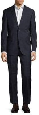 Saks Fifth Avenue Extra Slim Fit Windowpane Wool Suit
