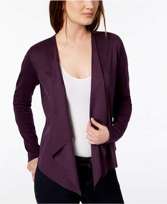INC International Concepts I.n.c. Open-Front Moleskin Cardigan, Created for Macy's