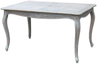 Louis XV Dining Table in Wash White
