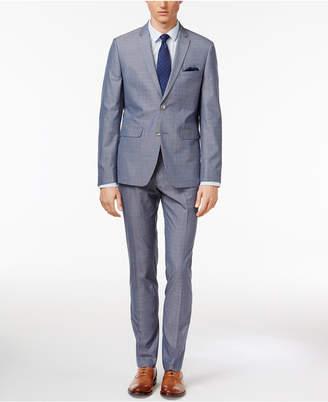 Perry Ellis Men's Extra Slim-Fit Portfolio Stone Blue Suit $375 thestylecure.com