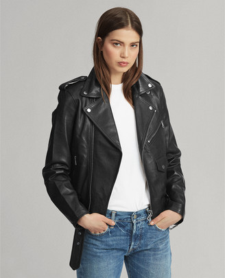 Ralph Lauren Lambskin Moto Jacket