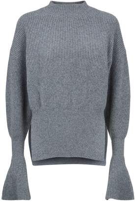 Alexander Wang Ribbed Fluted Sleeve Sweater