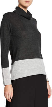 Donna Karan Boxy-Fit Turtleneck Sweater