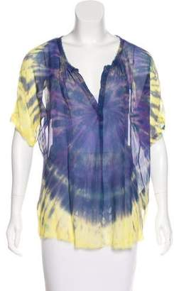 Raquel Allegra Silk Tie-Dye Top
