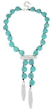 Robert Lee Morris Soho Santa Fe Turquoise and Silver Long Y-necklace