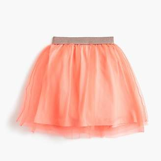 J.Crew Girls' tulle skirt with sparkly waistband