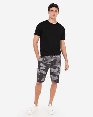 Express Classic 10 Inch Camo Stretch Black Cargo Shorts