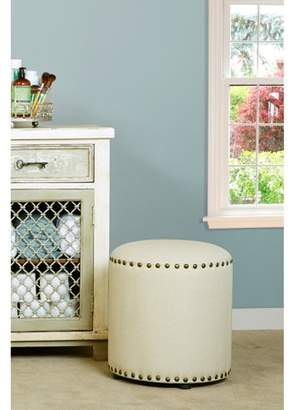 Hillsdale Furniture Laura Backless Vanity Stool, Cream Fabric