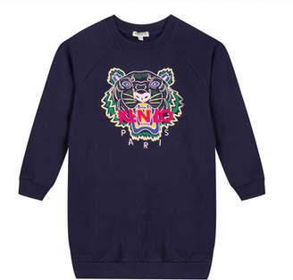 Kenzo Tiger Embroidered Sweatshirt Dress, Size 8-12