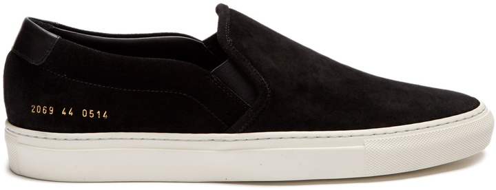 Common Projects COMMON PROJECTS Retro suede slip-on trainers