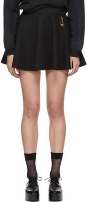 Versus Black Safety Pin Miniskirt