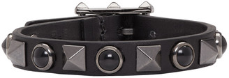 Valentino Black Stone & Rockstud Bracelet $245 thestylecure.com