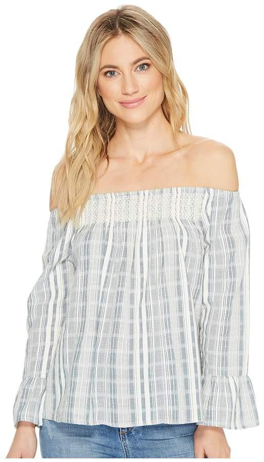 Roxy - Moon Sapphire Stripe Woven Top Women's Clothing
