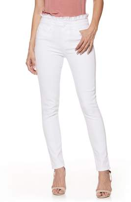 Paige Hoxton Ruffle High Waist Ankle Ultra Skinny Jeans