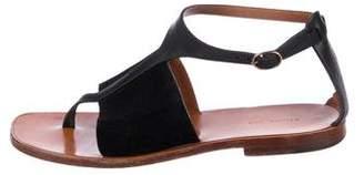 Celine Leather T-Strap Sandals