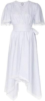 Evi Grintela Romy pinstripe cotton midi-dress