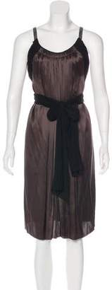 Lanvin Silk Plissé Dress