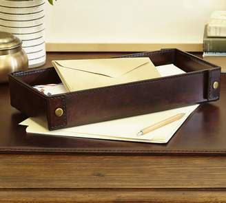 Pottery Barn Saddle Leather Desk Blotter