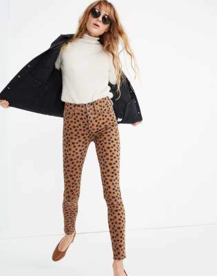 """Madewell 10"""" High-Rise Skinny Jeans in Leopard Dot"""