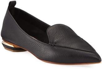Nicholas Kirkwood Pebbled Leather Point-Toe Loafer