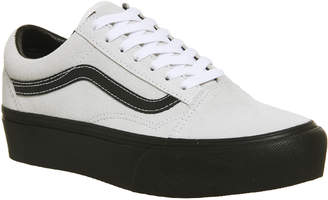 93cc9f4597f2 Vans Old Skool Platforms Blanc Black