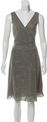 Armani Collezioni Embellished Midi Dress