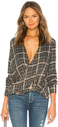 Bailey 44 Wipe Out Plaid Top
