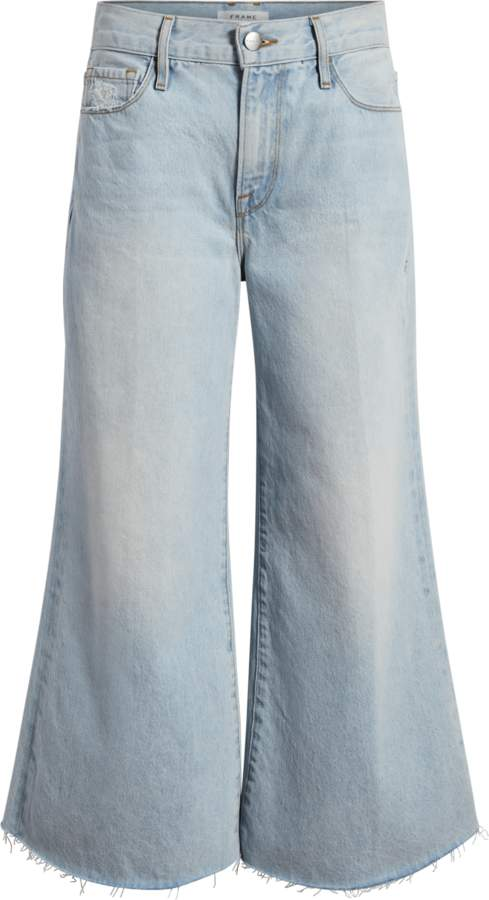 Frame Le Palazza Raw Edge Crop Jeans