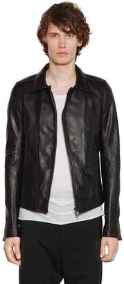 Rick Owens Stooges Zip Leather Biker Jacket