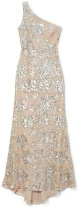 Vince Camuto Floral Sequin One-shoulder Gown