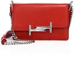 Tod's Double T Mini Leather& Chain Shoulder Bag