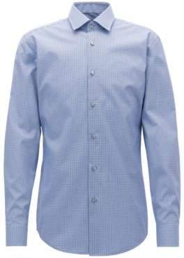 at HUGO BOSS HUGO BOSS Checked Cotton Dress Shirt, Slim Fit Jenno 18 Blue