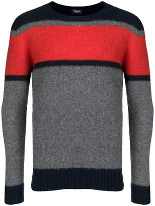 Drumohr colour-block fitted sweater