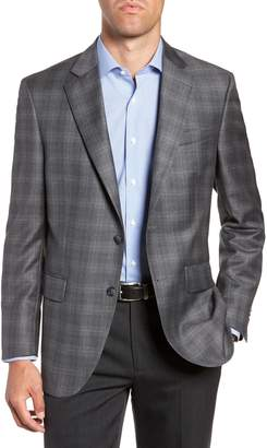 Peter Millar Flynn Classic Fit Plaid Wool Sport Coat