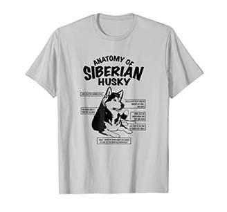 Anatomy of a Siberian Husky Funny Dog T-shirt