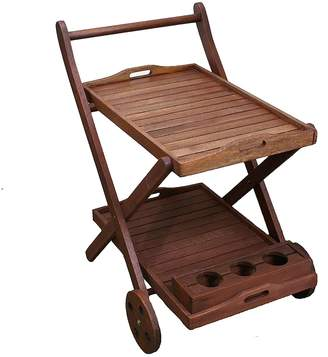 The Import Depot Outdoor Coffee & Side Tables Launton Outdoor Serving Trolley