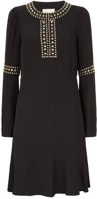 MICHAEL Michael Kors Studded Bell Sleeve Dress