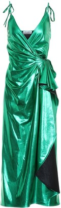 ATTICO The Metallic wrap dress