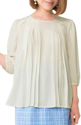Sweet Mommy Maternity and Nursing A-line Georgette Blouse WHL