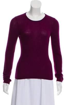 Loro Piana Cashmere Crew Neck Sweater Violet Cashmere Crew Neck Sweater