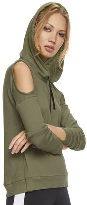 Madden NYC Juniors' Cold Shoulder Hoodie $44 thestylecure.com