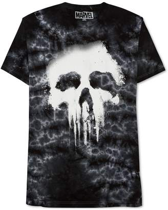 JEM Mens Punisher Tie-Dyed Halftone Graphic T-Shirt M