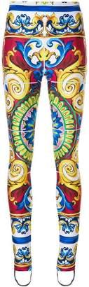 Dolce & Gabbana baroque print leggings